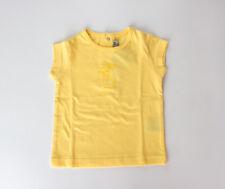 Camiseta amarilla de manga corta de niña (talla 9 meses)