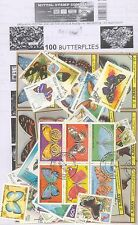 BUTTERFLIES Theme wise CTO stamps pack of 100 Different Stamps All Large