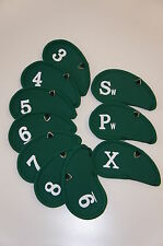"Deluxe 10 Neoprene Iron Covers, Numbered 3 – 9, Pw, Sw, ""X�, Green"