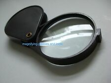 "60mm 2.5"" Powerful folding reading pocket magnifying glass 6X magnifier NEW"