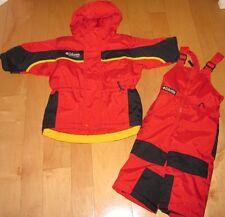 Columbia Tectonite Cute 2pc Red / Black Winter Snow Suit Jacket Pants 2 T EUC