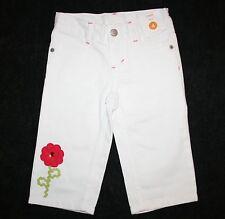 New Gymboree White Denim Jeans Capri Pants Flower Size 4T Kid NWT Pretty Posies