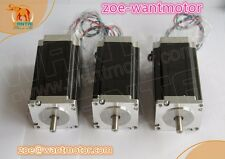 EU Free!3PCS Wantai Nema23 Stepper Motor 57BYGH627 270oz-in 3A Single Shaft CNC