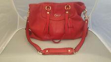 COACH Vintage 19243 Ashley Leather Red Large Handbag Tote Satchel Shoulder Bag