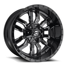 20x10 Fuel D595 Sledge Rims Black Offroad Wheels 33x12.50R20 Tires Fit Chevy