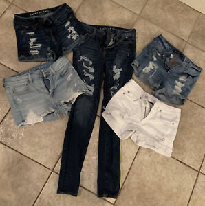 American Eagle Ladies  Jean Shorts Lot Of 5 Size 4