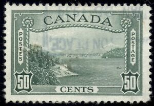 Canada 1938 50c green, Pictorial issue, VF, light cancel, SG366 cat 16GBP=C$27