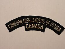 INSIGNE BADGE COMMONWEALTH CAMERON HIGHLANDERS OF OTTAWA CANADA