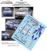 DECALS 1/18 REF 1555 RENAULT CLIO WILLIAMS SALANON RALLYE PAYS DE GIER 1999