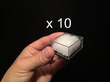 10 x Boites présentation Fossiles et Minéraux, display box for minerals, fossils