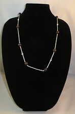 Necklace & Earring Set Nickel Free Fashion Jewelry Dark Purple & Silver Costume