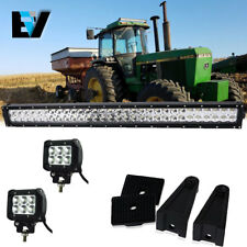 John Deere AR60250 LED  2955 4430 4440 4455  30Inch Light Bar Dual Row +Pods Kit