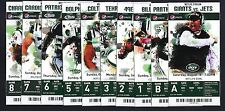 2012 NFL NEW YORK JETS FULL UNUSED FOOTBALL TICKETS - ENTIRE HOME SEASON