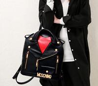 womens Vintage jacket PU leather school bags Backpack travel book shoulder bag