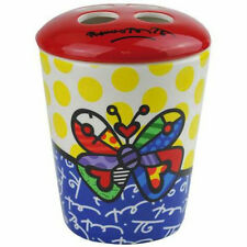 ROMERO BRITTO TOOTHBRUSH HOLDER --BUTTERFLY ** NEW **