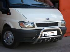 FORD TRANSIT CHROME BULL BAR, AXLE NUDGE A-BAR 1995-2013 STAINLESS STEEL BRAND