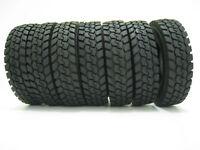 4Pcs  For Tamiya 1:14 Tractor Truck Trailer Climbing Car Rubber Climbing Tire