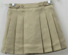 Chaps Girls Approved Schoolwear Khaki Pleated Skort Size 6 Reg