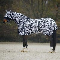 STRONG LIGHTWEIGHT HORSE COMBO TURNOUT FLY RUG WITH NECK/BELLY/TAIL COVER & MASK