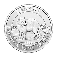 Lot of 15 x 1.5 oz 2014 Canadian Arctic Fox Silver Coin