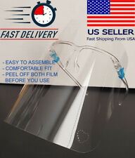 5 Lovely Safety Full Face Shield Guard Protector Clear Reusable US Helmet