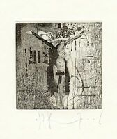 """""""Amor Caecus"""" Nude, Ex libris Etching by Ivan Rusachek, Belarus"""