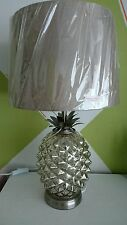 Champagne Gold Pineapple Table Lamp Electrical Mink Shade NEW 48cm Tall