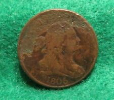 1806 LARGE 6  DRAPED BUST HALF CENT DESCENT CONDITION, DIES ROTATED, CORROSION