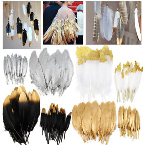 50pcs Real Goose Feather Centerpiece Gathering Show Make up Party DIY Decoration