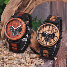 BOBO BIRD WOODEN WATCH MENS OFFICIAL LUXURY MILITARY STAINLESS STEEL RELOGIO