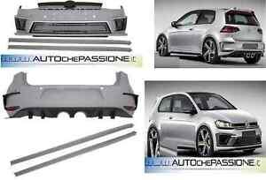 KIT Paraurti R400, Golf 7 dal 2012>2017 ABS R VII anteriore minigonne +fanali