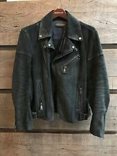 Ralph lauren Polo black label Biker Motorcycle Leather Jacket Size small