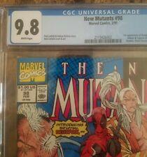 New Mutants #98 CGC 9.8 white pages 19911st app. Deadpool, Gideon, Domino