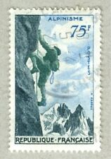 FRENCH POSTAGE - ALPINISME 1956 STAMP 75f POSTES FRANCE