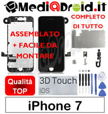 APPLE IPHONE 7 NERO VETRO 3D DISPLAY LCD SCHERMO COMPLETO + ASSEMBLATO ORIGINAL