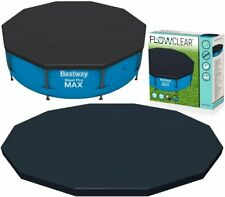Bestway 10ft Steel Frame Swimming Pool Cover Round Frame Steel Pro MAX Pools NEW