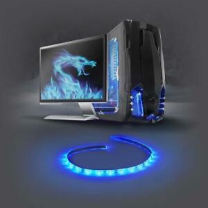 Gaming LED Licht Case Modding Blau 1m SATA PC Gehäuse Beleuchtung Gamer Computer