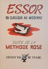 METODO ROSA - Essor du Classique au Moderne - ed Van de Velde