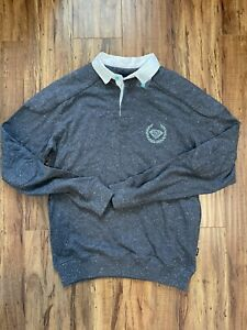 DIAMOND SUPPLY CO Men's Long Sleeve Polo Shirt Sz L