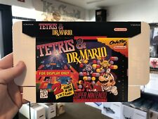 Tetris & Dr Mario SNES DISPLAY BOX ONLY (super nintendo promo nes)