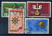 Switzerland 1954 Mi. 593-596 Used 100% Culture