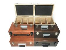 Custom Handcrafted Sports Cards Wood Storage Box & Carrying Case: Holds PSA BGS