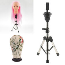21'' Cork Canvas Block Mannequin Head for Wig Making, with Tripod Stand