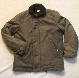 Vintage 60s 70s Civilian N1 Deck Jacket N1-2 Coat 42 USA Simco Military Navy