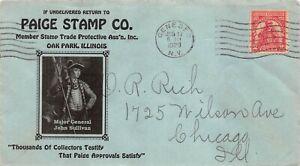 657 2c Sullivan Expedition, Paige Stamp Co. corner card on blue [072221.1013]