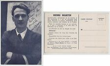 POSTCARD - Henri Martin, French Communist, France politics, fund raising card