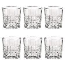 Cut Glass Tumblers Barware Drinking Glasses, 300ml - Este Vintage - x6