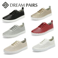 DREAM PAIRS Womens Classic Round Toe Lace Up Loafer Shoes Lightweight Flat Shoes