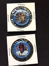 Los Angeles Angels pin set-(2)-Classic Collectables-1984 Fun Foods-Reggie & Rod!