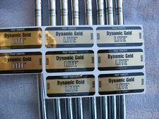 8 NEW TT DYNAMIC GOLD LITE R400  3-PW IRON SHAFTS .355 TAPER